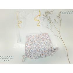 Conjunto camisa bambula y pantalon corto de pajaros de Ancar