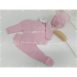 Conjunto polaina, jersey y capota bebé niña de Dolce Petit
