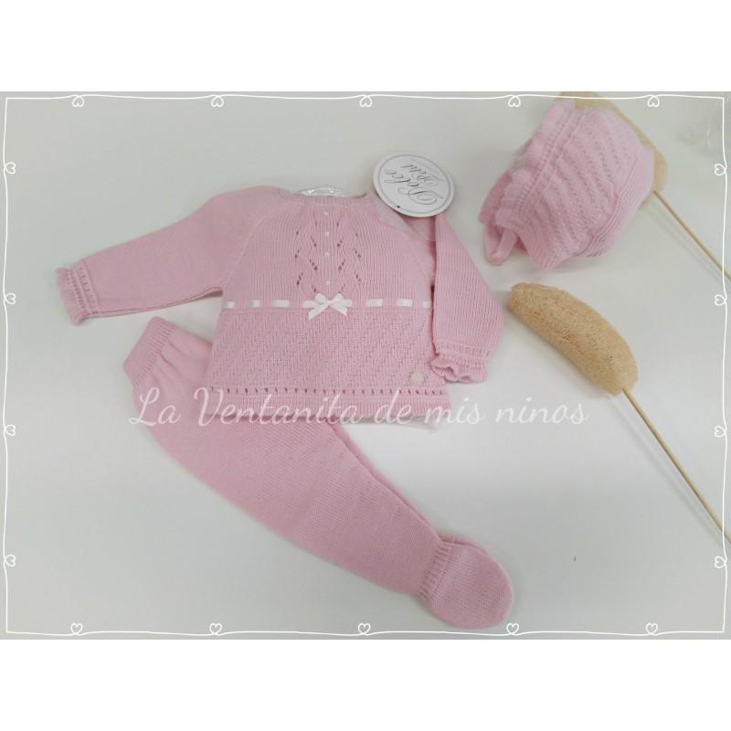 7b7bc616b conjunto polaina jersey y capota bebe niña de dolce petit