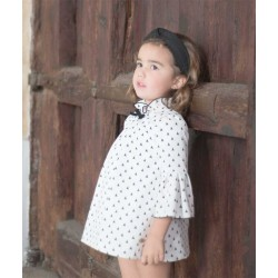 Vestido Colección Tepee Blanco y Negro de Eve Children