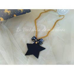 Collar estrella unicornios de Mon Petit Bonbon