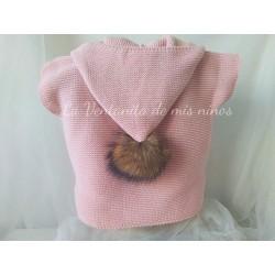 Chaleco rosa Palo con pompon de Sigar