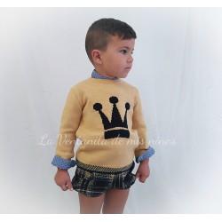 Conjunto niño Leonor con bombacho de Eva Castro