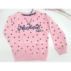 Sudadera rosa estrellas marino de nachete