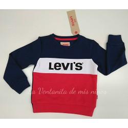 Sudadera azul marino roja y blanca de Levis kids