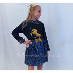 Conjunto Unicornio falda de Mon Petit Bonbon
