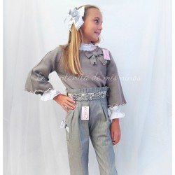 Conjunto joya niña con blusón pantalón largo y Jersey de Lolittos