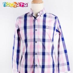 Camisa cuadros rosa y marino de Nachete