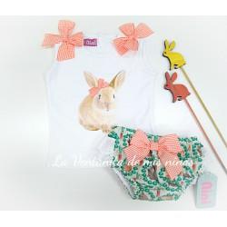 Conjunto Conejo de Niña de Nini