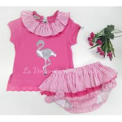 Conjunto Flamenco camiseta y cubre de Lolittos