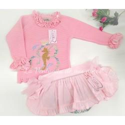 Conjunto Pomposa Jersey y braga falda de Lolittos