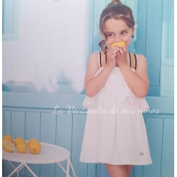 Vestido Blanco tirantes  marino Bird de Eve Children