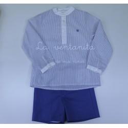 conjunto azul dolce petit niño