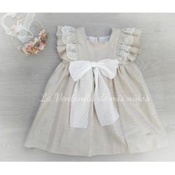 Vestido Linen lazo delante de Eve Children
