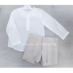 Conjunto Linen Pantalon Corto de Eve Children
