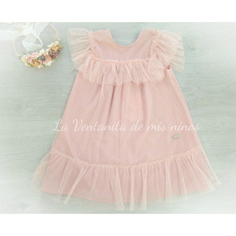 85c24f46d411d vestido plumeti rosa coleccion shell de eve children