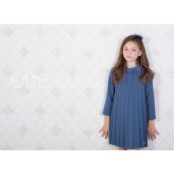Vestido azul plisado de Eve Children