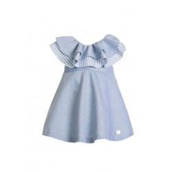 Vestido azul Volantes de Eve Children