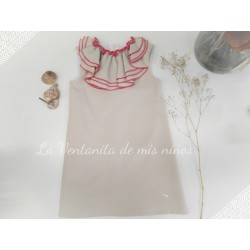 Vestido recto camel Palm Eve Children