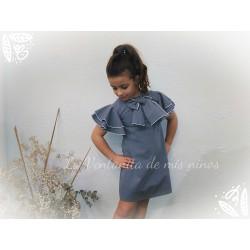 Vestido azul lazo de Eve Children