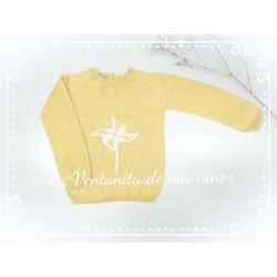 Jersey amarillo con molinillo de Eve Children