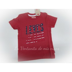 Camiseta niño roja Levis