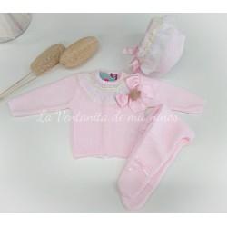 Conjunto con polaina rosa de Nini