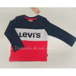 Camiseta Marino blanca y roja de Levis Kids