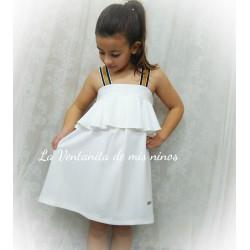 Vestido Blanco tirantes  marino Bird de Eve Children