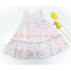 Vestido estampado peces Peach de Eve Children