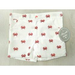 Conjunto camiseta cangrejo y pantalón corto de Mon petit Bonbon