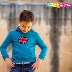 SUDADERA AZUL ESCUDO LONDRES DE NACHETE