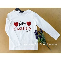 CAMISETA LOVE FASHION DE CONGUITOS