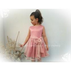 Vestido rosa tul Nekenia